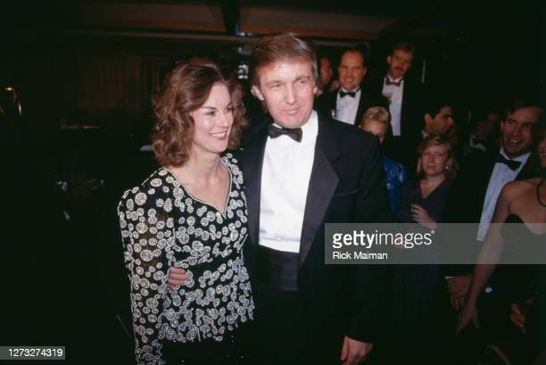 Donald Trump et Christie Hefner au 35éme anniversaire de Playboy à New-York.