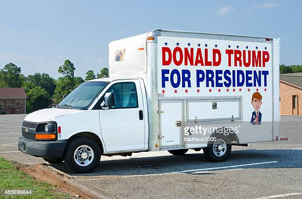 Donald Trump for President Billboard on a Panel Truck
