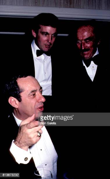 Donald Trump Fred Trump and Mario Cuomo attend 38th Annual Horatio Alger Awards Dinner on May 10 1985 at the Waldorf Hotel in New York City