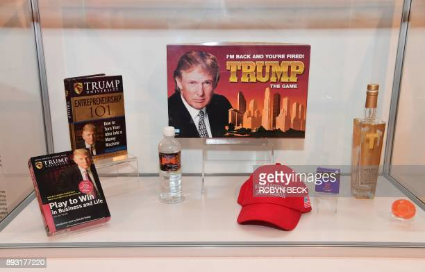 Donald Trump games books water alcohol and other items are displayed at The Museum of Failure in Los Angeles on December 7 2017 The Museum of Failure...
