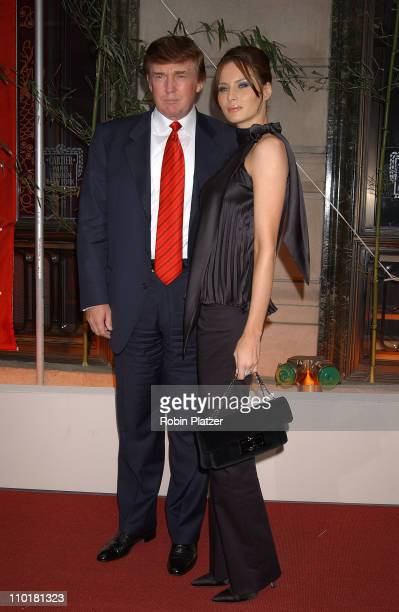 Donald Trump & girlf Melania Knauss during Cartier party for Le Baiser du Dragon honoring New Yorkers for Children at The Cartier Store in New York...