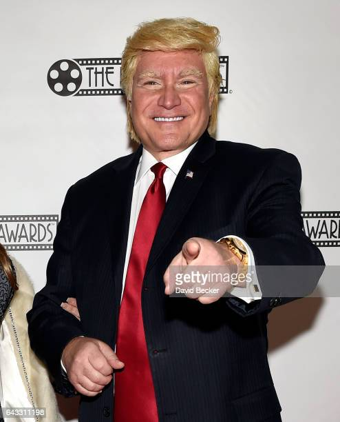 Donald Trump impersonator Marcel Forestieri attends The Reel Awards 2017 at the Golden Nugget Hotel Casino on February 20 2017 in Las Vegas Nevada