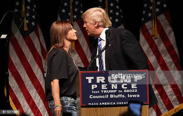 Donald Trump invites Michelle Root onstage whose daughter, 21-year-old Sarah Root, was killed in January by a drunk driver who turned out to be in...