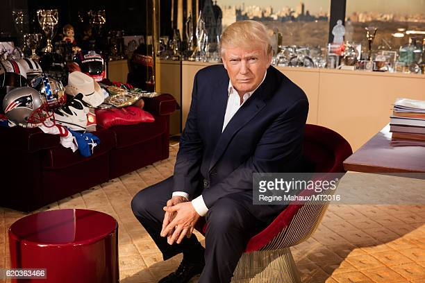 Donald Trump is photographed at Trump Tower on January 6 2016 in New York City