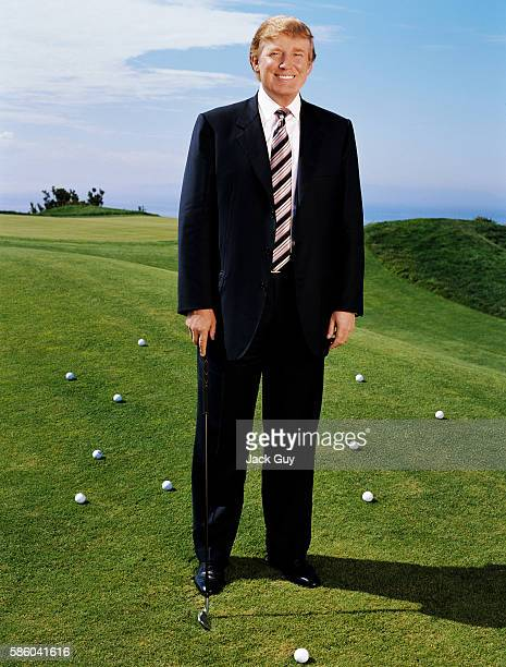 Donald Trump is photographed for In Touch Weekly in 2004 on a golf course PUBLISHED IMAGE