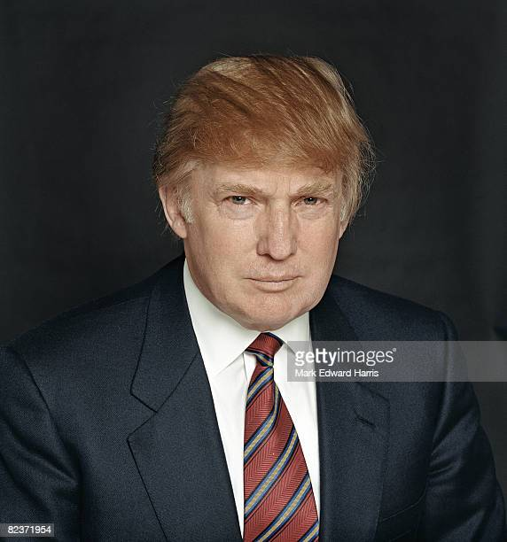 Donald Trump is photographed for Palm Springs Life on March 18 2002 in New York City