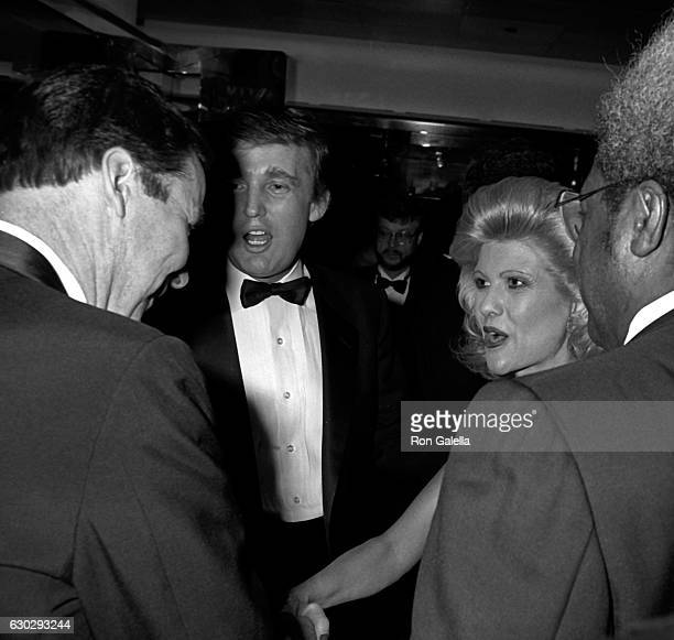 """Donald Trump, Ivana Trump and Don King attend """"The Art of the Deal"""" Book Party on December 12, 1987 at Trump Tower in New York City."""