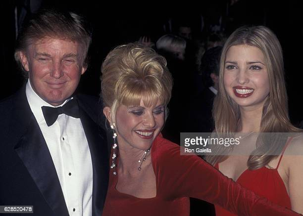 Donald Trump Ivana Trump and Ivanka Trump attend Valentine's Day Birthday Party for Ivana Trump on February 12 1998 at Chaos in New York City