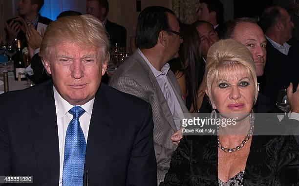 Donald Trump Ivana Trump Eric Trump and Lara Yunaska attend The Eric Trump 8th Annual Golf Tournament at Trump National Golf Club Westchester on...