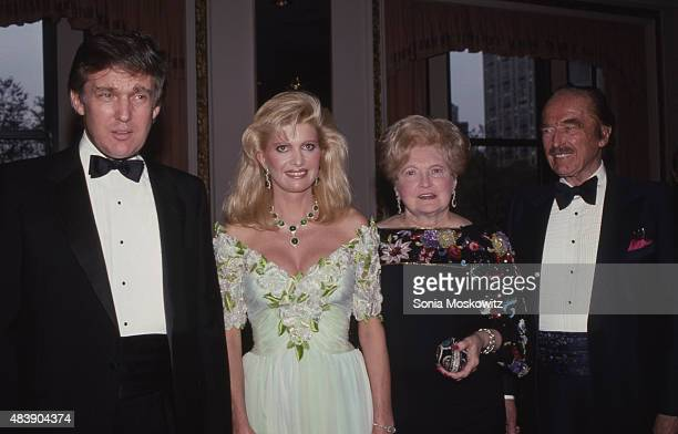 Donald Trump Ivana Trump Mary Trump and Fred Trump attend PAL Dinner in May 1987 at The Plaza Hotel in New York City