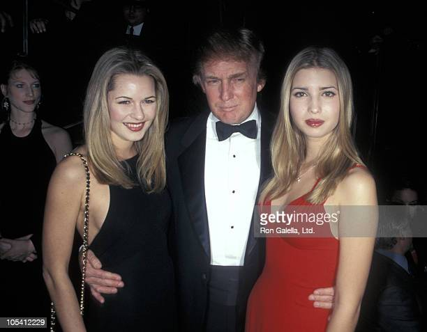 Donald Trump Ivanka Trump and guest during Valentine's Day And Birthday Party For Ivanka Trump at Chaos in New York City New York United States