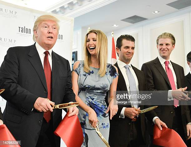 Donald Trump Ivanka Trump Donald Trump Jr and Eric Trump attend the Grand Opening Ribbon Cutting Ceremony at the Trump International Hotel and Tower...
