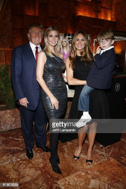 Donald Trump Ivanka Trump Milania Trump and Barron Trump attend 'The Trump Card Playing to Win in Work and Life' book launch celebration at Trump...