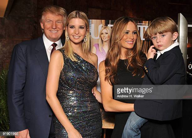 Donald Trump Ivanka Trump Melania TrumpTrump and Barron Trump attend the The Trump Card Playing to Win in Work and Life book launch celebration at...