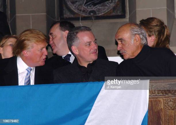 Donald Trump Jack McConnell and Sean Connery during 'Dressed To Kilt' Fashion Show And Charity Event April 3 2006 at St John The Divine Cathedral...