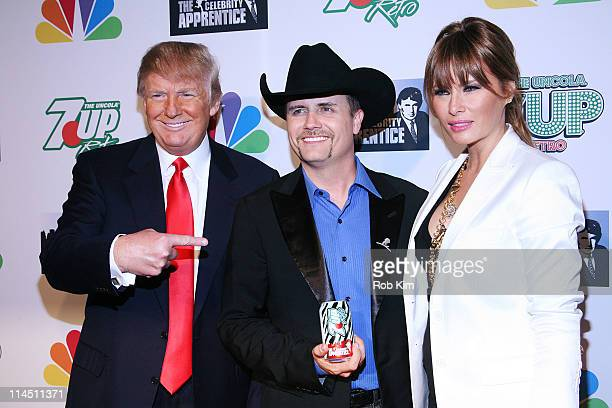 Donald Trump John Rich and Melania Trump attend 'The Celebrity Apprentice' Season 4 Finale at Trump SoHo on May 22 2011 in New York City