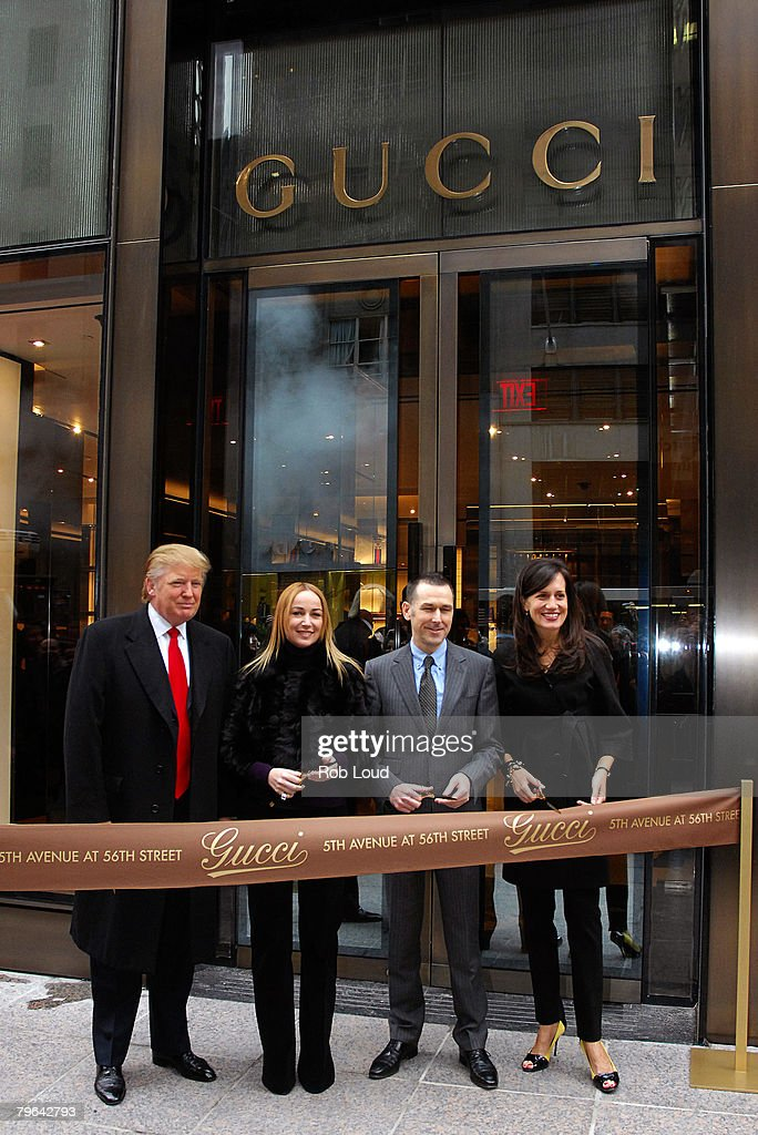 Donald Trump Joins Gucci For Ribbon Cutting : News Photo