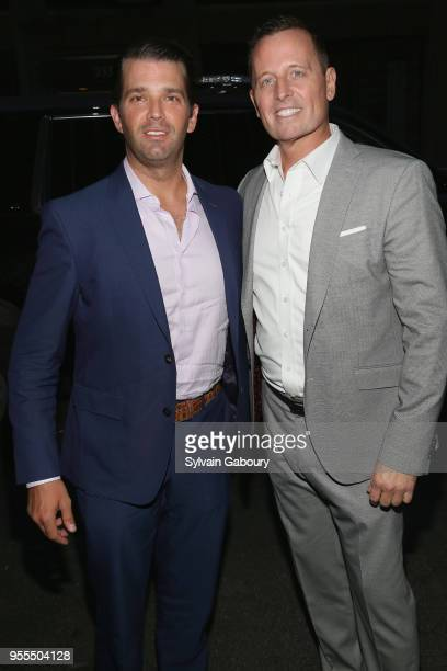 Donald Trump Jr and Ambassador Richard Grenell attend Ambassador Grenell Goodbye Bash on May 6 2018 in New York City