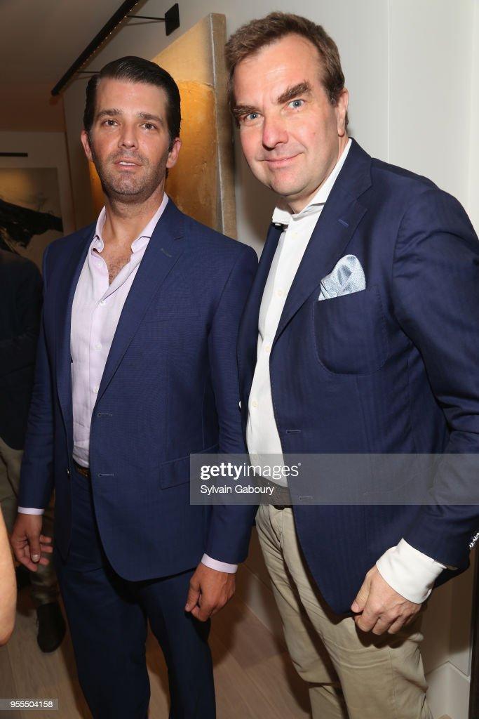 Donald Trump Jr. and Arnulf Damerau attend Ambassador Grenell Goodbye Bash on May 6, 2018 in New York City.