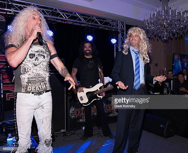Donald Trump Jr and Dee Snider perform at The Eric Trump 8th Annual Golf Tournament at Trump National Golf Club Westchester on September 15 2014 in...