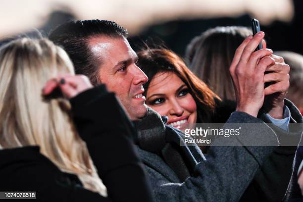 Donald Trump Jr and girlfriend Kimberly Guilfoyle attend the 96th annual National Christmas Tree Lighting at The Ellipse in President's Park on...