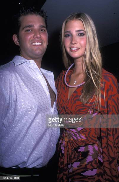 Donald Trump Jr and Ivanka Trump attend 25th Anniversary Party for Studio 54 on April 24 2002 in New York City