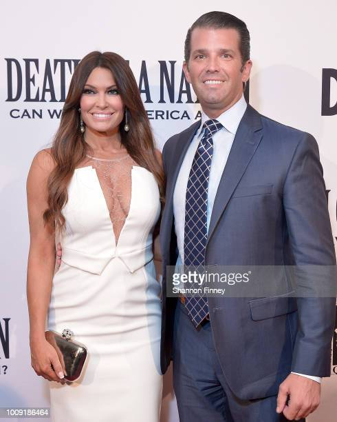 Donald Trump Jr and Kimberly Guilfoyle attend the DC premiere of the film Death of a Nation at E Street Cinema on August 1 2018 in Washington DC