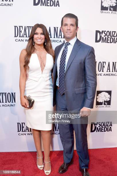 Donald Trump Jr and Kimberly Guilfoyle attend the DC premiere of the film 'Death of a Nation' at E Street Cinema on August 1 2018 in Washington DC