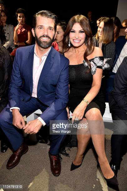 Donald Trump Jr and Kimberly Guilfoyle attend the Zang Toi front row during New York Fashion Week The Shows at Gallery II at Spring Studios on...