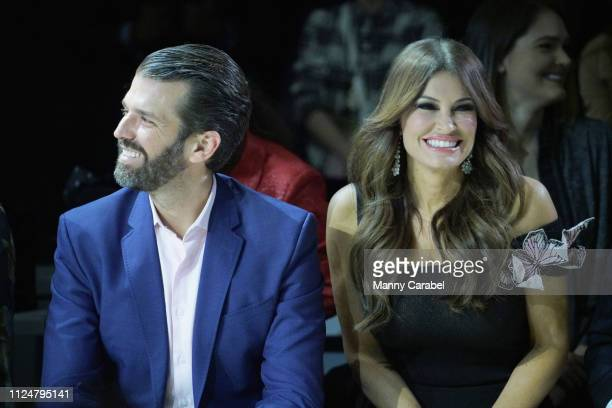 Donald Trump Jr and Kimberly Guilfoyle attend the Zang Toi runway show in Gallery II in Spring Studios during New York Fashion Week The Shows at...