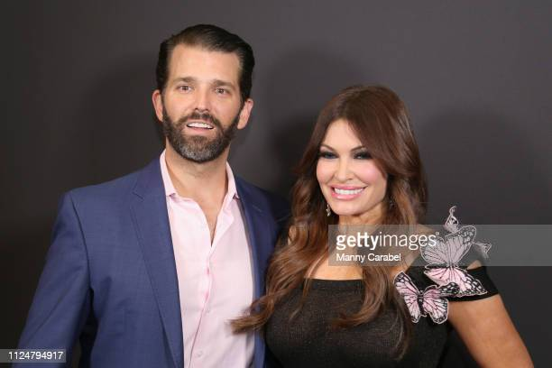 Donald Trump Jr and Kimberly Guilfoyle pose backstage Gallery II in Spring Studios after the Zang Toi runway show during New York Fashion Week The...