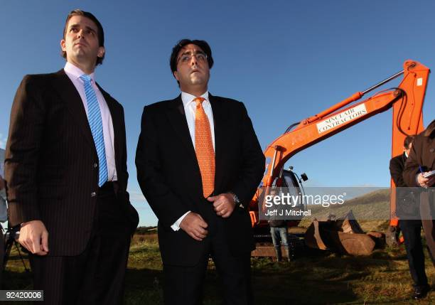 Donald Trump Jr and lawyer George Sorial view work on the Menie estate on October 28 2009 in Aberdeen Scotland Preparatory work started today on...