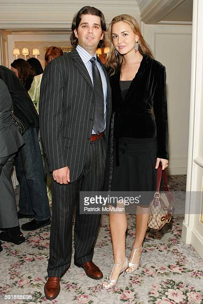 Donald Trump Jr and Vanessa Haydon attend Royal Chie Fashion Show and Cocktails at St Regis Hotel on October 11 2005 in New York City