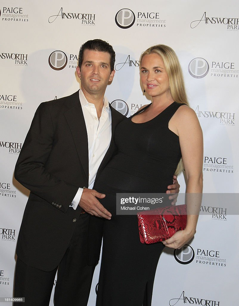 Donald Trump, Jr and Vanessa Trump at a photocall during Ryan Lochte Hosts 'Guys Fashions Night Out' Presented By Ainsworth Park and Windsor Custom on September 6, 2012 in New York City.