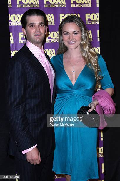 Donald Trump Jr and Vanessa Trump attend A Celebration for the Launch of THE FOX BUSINESS NETWORK at Temple of Dendur on October 24 2007 in New York...