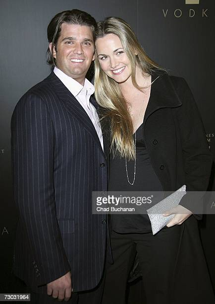 Donald Trump Jr. And Vanessa Trump attend Trump Vodka launch party at Les Deux on January 17, 2007 in Los Angeles, California.