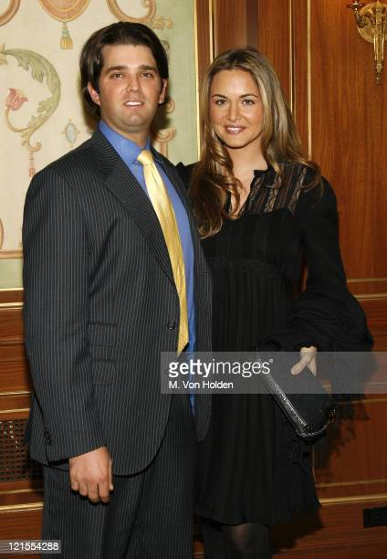Donald Trump Jr and Vanessa Trump during 18th Annual Women of the Year Luncheon at The Pierre in New York City New York United States