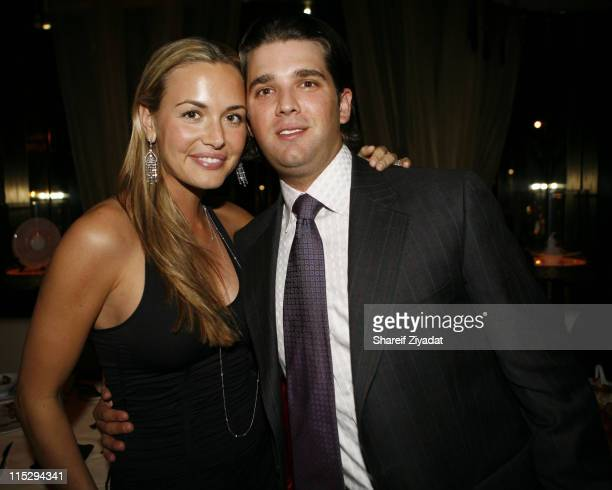 Donald Trump Jr and Vanessa Trump during Grand Opening of Megu Midtown at Trump World Towers at Trump World Towers in New York NY United States