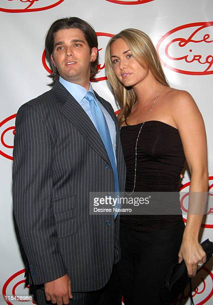 Donald Trump Jr and Vanessa Trump during Le Cirque Opening Party at One Beacon Court at One Beacon Court in New York City New York United States