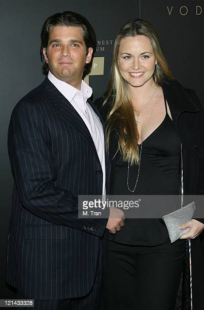 Donald Trump Jr and Vanessa Trump during Trump Vodka Launch Party Arrivals at Les Deux in Hollywood California United States