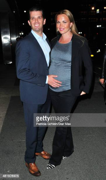 Donald Trump Jr and wife Vanessa Haydon are seen on April 1 2014 in New York City