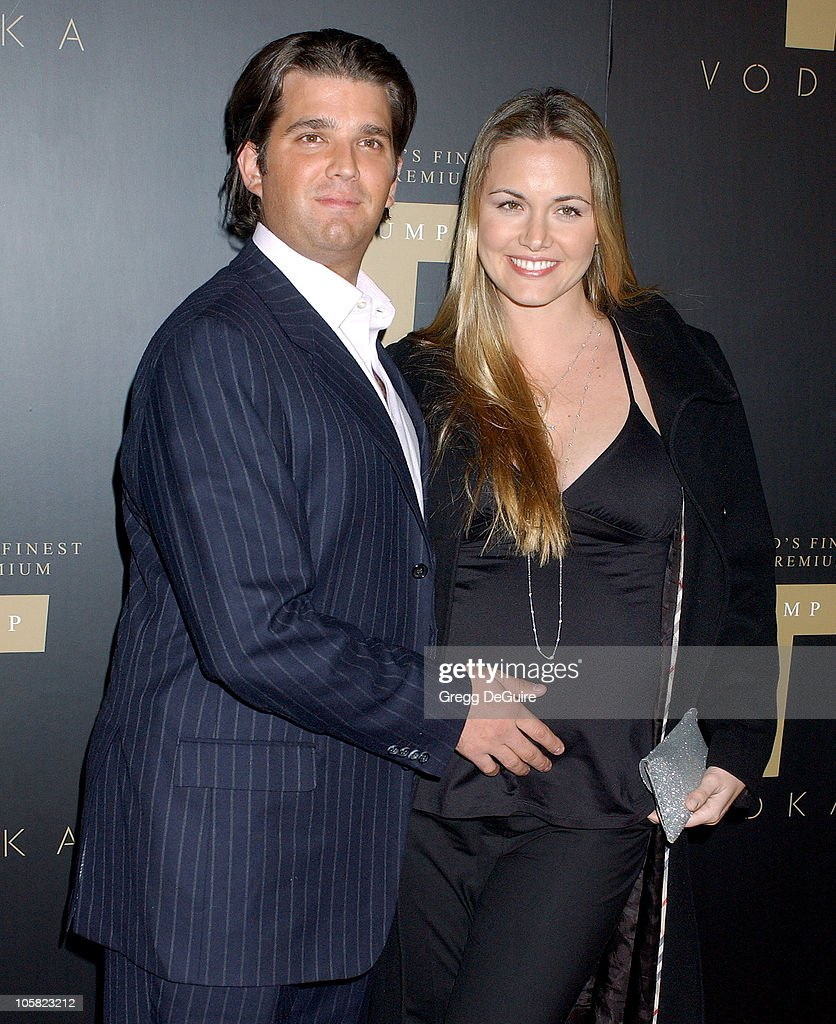 Donald Trump Jr and wife Vanessa Trump during Launch Party for Trump Vodka - Arrivals at Les Deux in Hollywood, California, United States.