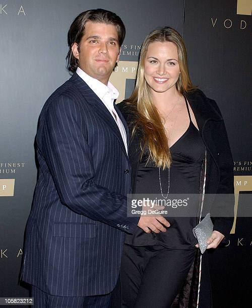 Donald Trump Jr and wife Vanessa Trump during Launch Party for Trump Vodka Arrivals at Les Deux in Hollywood California United States