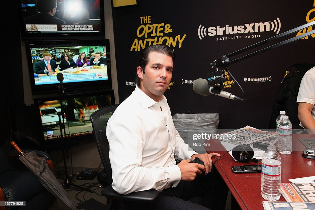 Donald Trump Jr. appears as a special guest co-host on 'The Opie & Anthony Show' at SiriusXM Studio on January 27, 2012 in New York City.