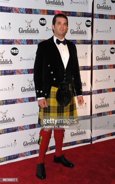 Donald Trump Jr attends the 8th annual 'Dressed To Kilt' Charity Fashion Show presented by Glenfiddich at M2 Ultra Lounge on April 5 2010 in New York...