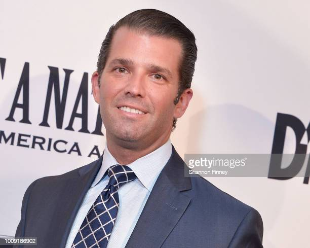 Donald Trump Jr attends the DC premiere of the film Death of a Nation at E Street Cinema on August 1 2018 in Washington DC