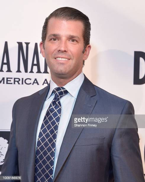 Donald Trump Jr attends the DC premiere of the film 'Death of a Nation' at E Street Cinema on August 1 2018 in Washington DC