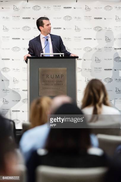 Donald Trump Jr attends the inauguration ceremeony for the Trump International Hotel and Tower in Vancouver Canada on February 28 2017 / AFP /...