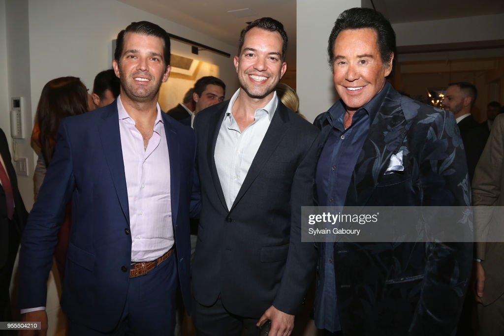 Donald Trump Jr., Bryan Eure and Wayne Newton attend Ambassador Grenell Goodbye Bash on May 6, 2018 in New York City.