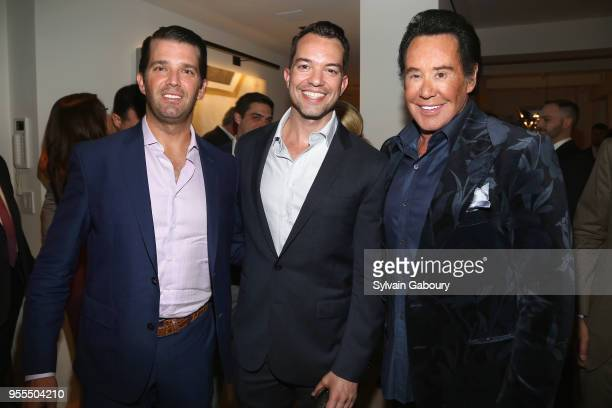 Donald Trump Jr Bryan Eure and Wayne Newton attend Ambassador Grenell Goodbye Bash on May 6 2018 in New York City